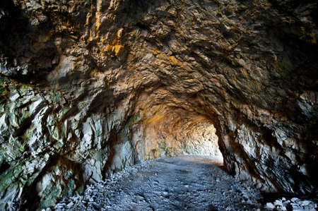 Light Coming from the Entrance to the Mine