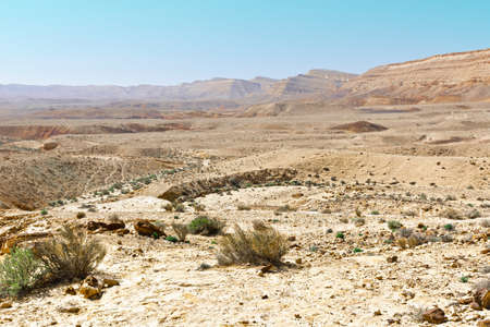 Photo for Canyon in the Judean Desert on the West Bank of the Jordan River - Royalty Free Image