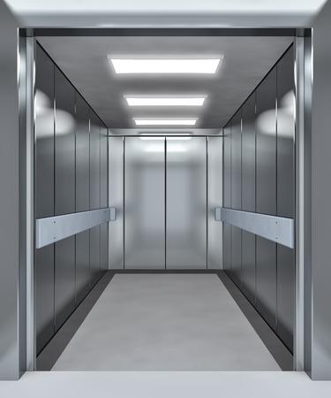 Foto de Modern elevator with opened doors - 3d illustration - Imagen libre de derechos