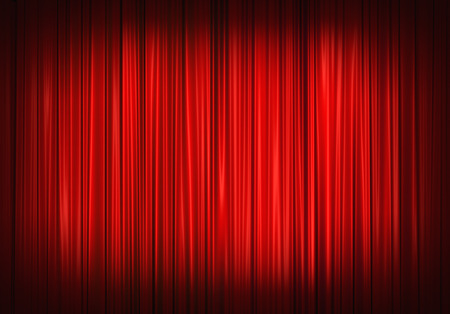 Photo for Red stage curtain on theater, illustration - Royalty Free Image