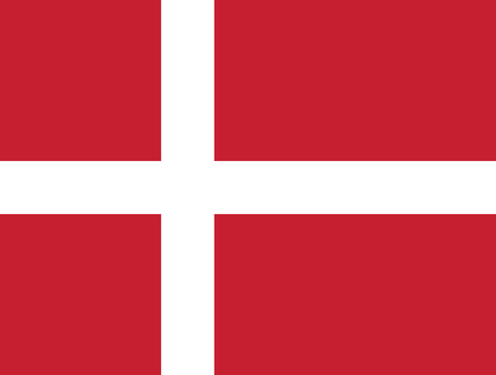 Illustrazione per Flag of Denmark in official rate and colors, vector. - Immagini Royalty Free
