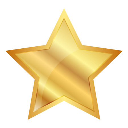Illustration for Vector illustration of Gold Star - Royalty Free Image