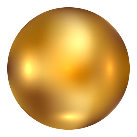 Photo pour Vector illustration of gold ball - image libre de droit