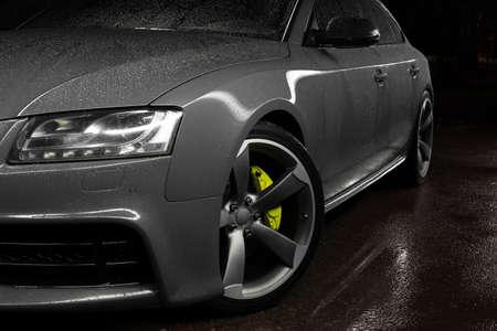 Foto de Gray car sportback - Imagen libre de derechos