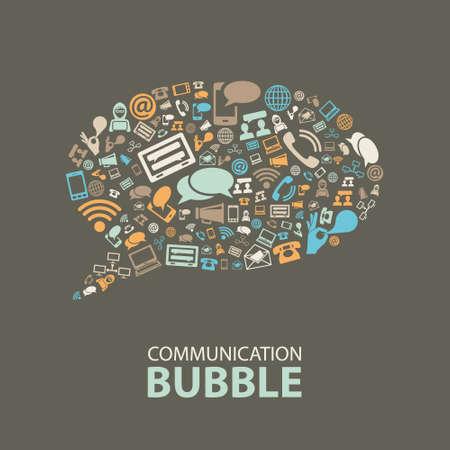 Foto de communication bubble - Imagen libre de derechos