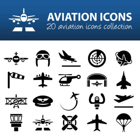 Illustration pour aviation icons - image libre de droit