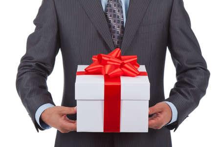 Foto de gift box businessman - Imagen libre de derechos