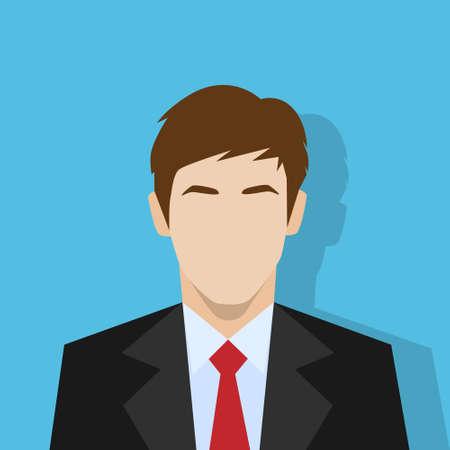Illustrazione per businessman profile icon male portrait flat - Immagini Royalty Free