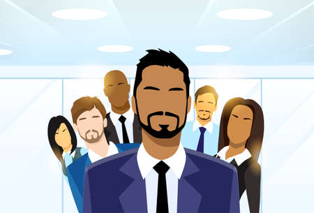Illustration pour Business People Group Leader Diverse Team - image libre de droit