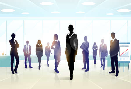 Ilustración de Business People Group Silhouette Executives Team - Imagen libre de derechos
