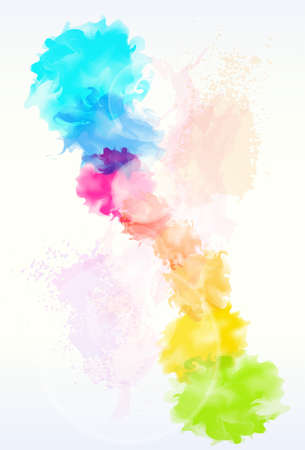 Illustration pour paint colorful splash abstract background - image libre de droit