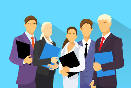Photo for business people group human resources flat vector - Royalty Free Image