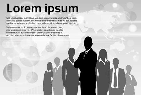 Illustration pour Business People Group Silhouette Executives Team - image libre de droit