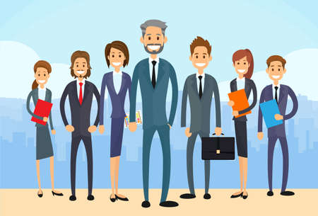 Illustration pour Group Diverse of Business People  - image libre de droit