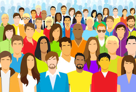 Illustrazione per Group of Casual People - Immagini Royalty Free