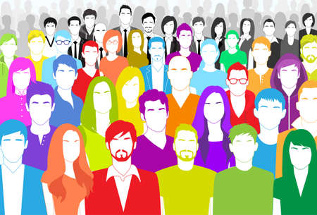 Illustrazione per Group of People - Immagini Royalty Free