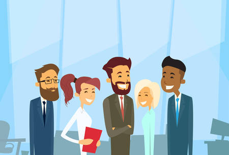Illustration pour Business People Group Diverse Team Businesspeople Office Vector Illustration - image libre de droit