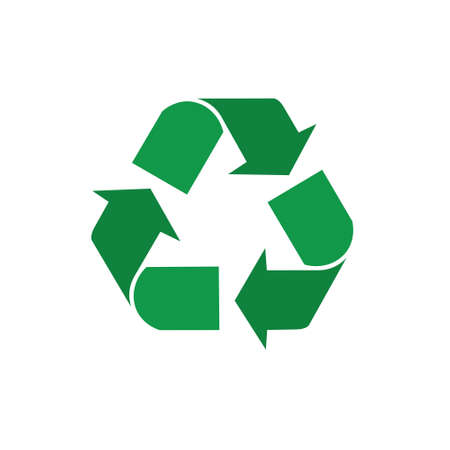 Illustrazione per Recycle Symbol Green Arrows Logo Web Icon Vector Illustration - Immagini Royalty Free