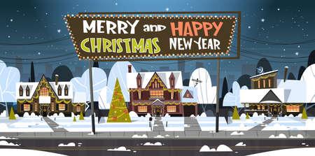 Ilustración de Merry Christmas And Happy New Year banner. - Imagen libre de derechos