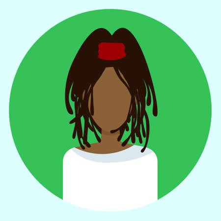 Ilustración de Female Avatar Profile Vector Illustration - Imagen libre de derechos