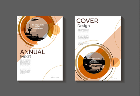 Illustration pour Brown abstract modern cover book Brochure template, design, annual report, magazine and flyer layout Vector a4. - image libre de droit