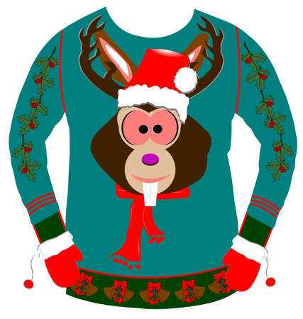 Photo pour ugly christmas sweater - image libre de droit
