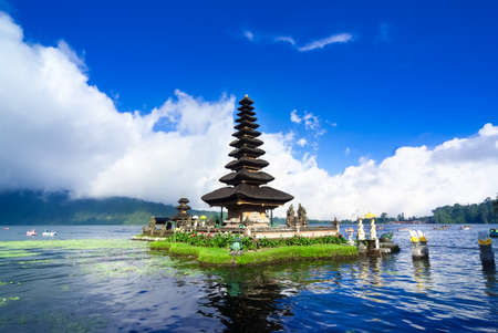 Photo for Pura Ulun Danu Bratan is a major water temple on Lake Bratan, Bali, Indonesia - Royalty Free Image