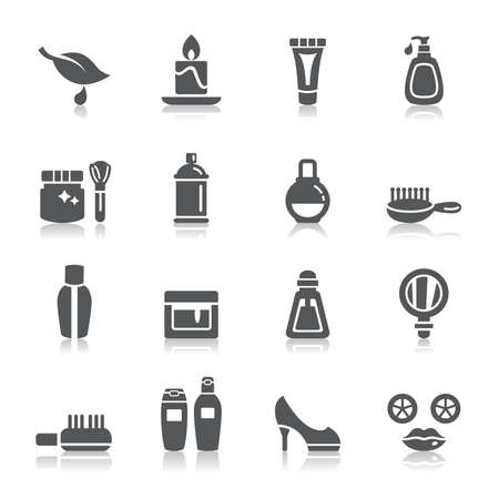 Illustration pour Beauty and Cosmetic Icons - image libre de droit