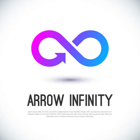 Ilustración de Arrow infinity business vector logo design template for your design. - Imagen libre de derechos