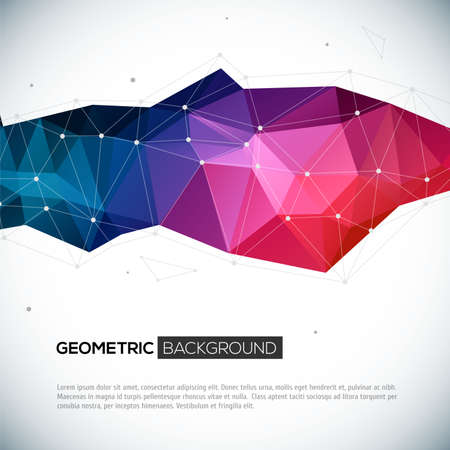 Foto de Abstract 3D geometric colorful background. Vector illustration for your design - Imagen libre de derechos