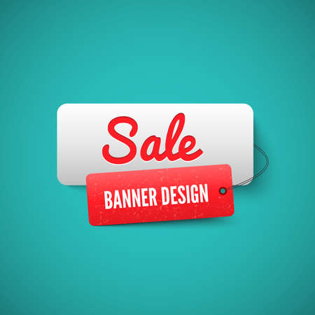 Illustration pour 3D Sale banner tag. Sale Labels - image libre de droit