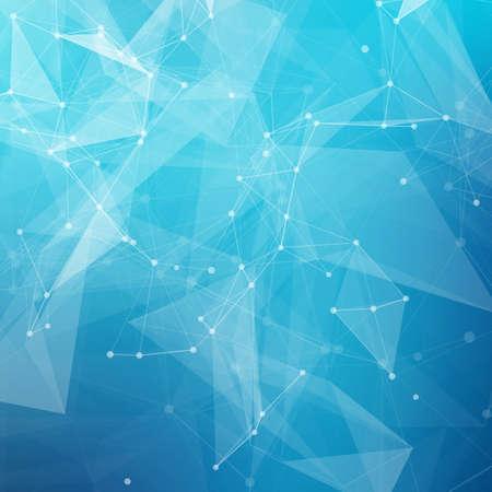 Ilustración de Abstract low poly grey bright technology vector background. Connection structure. Vector data science background. Polygonal vector background. - Imagen libre de derechos