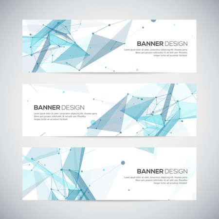 Illustration pour Abstract geometric banner design. Geometric backgrounds. Vector - image libre de droit