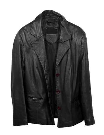 Foto de leather coat on the white - Imagen libre de derechos