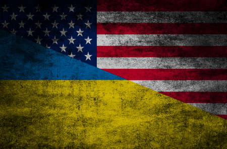 Photo pour Country relations. Flags on textured background - image libre de droit