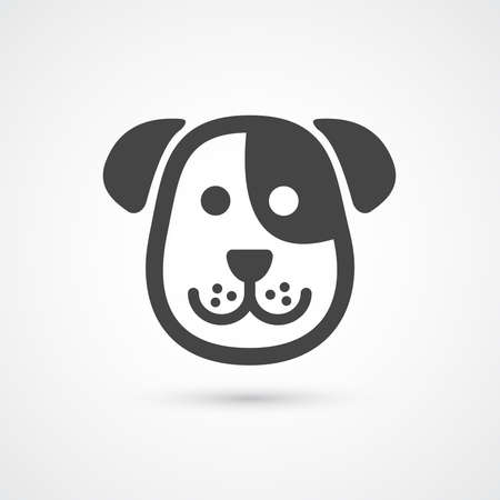 Ilustración de Cute dog icon . Vector element for design - Imagen libre de derechos