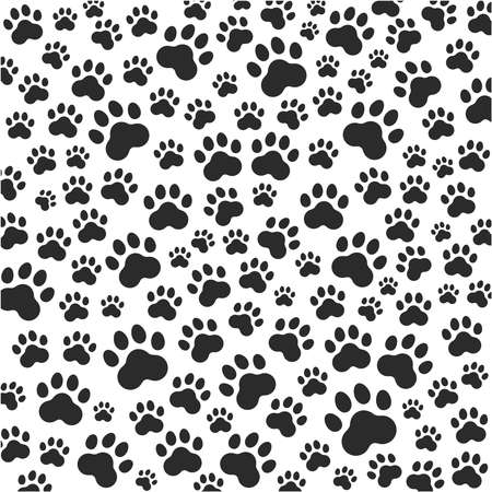 Ilustración de Cat or dog paws background. Vector - Imagen libre de derechos