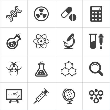 Illustration pour Trendy science icons on white. Vector - image libre de droit