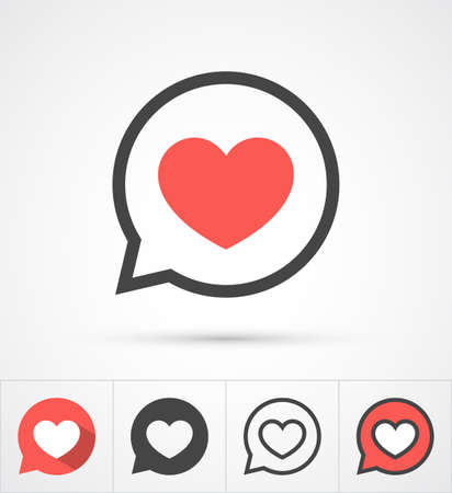 Ilustración de Heart in speech bubble icon. Vector - Imagen libre de derechos