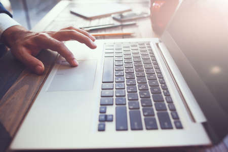 Foto de Computer software development process. Presentation, business correspondence, science research and new technologies concept. - Imagen libre de derechos