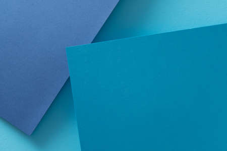 Photo pour paper layers. abstract dimensional blue background. geometric layout with empty space. - image libre de droit