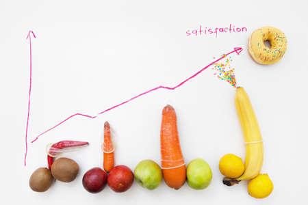 Photo pour Phallus Size Chart Penis Sex Shape Condoms Satisfaction Ejaculation Sperm Orgasm Concept - image libre de droit