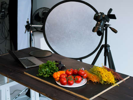 Photo for food photography photo studio art blog concept - Royalty Free Image