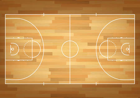 Illustration pour Basketball court on top. Vector EPS10 illustration. - image libre de droit