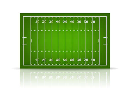 3d american football field. Vector EPS10 illustration.
