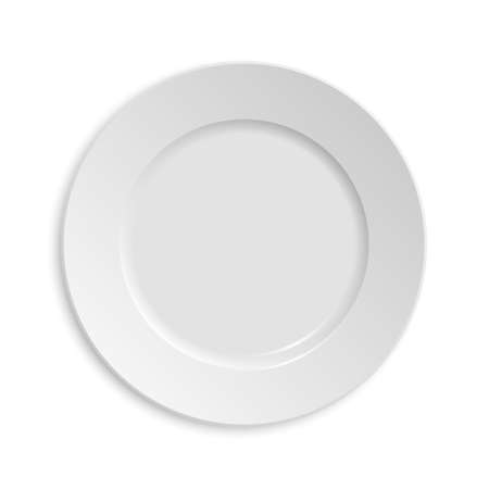 Photo for Empty plate. Isolated on white background. - Royalty Free Image