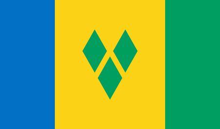 Ilustración de Saint Vincent and the Grenadines Flag - Imagen libre de derechos