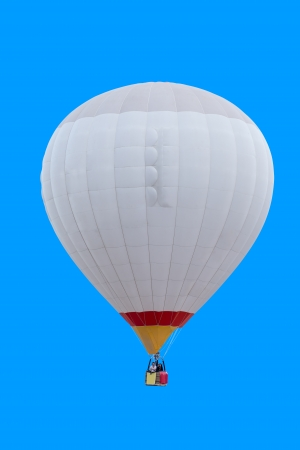 Photo for Colorful hot air balloon isolated on blue background - Royalty Free Image