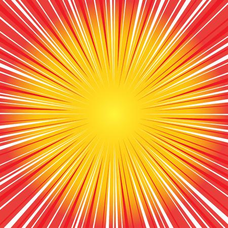 Ilustración de Radial speed on, bubble comic speech, vector format - Imagen libre de derechos