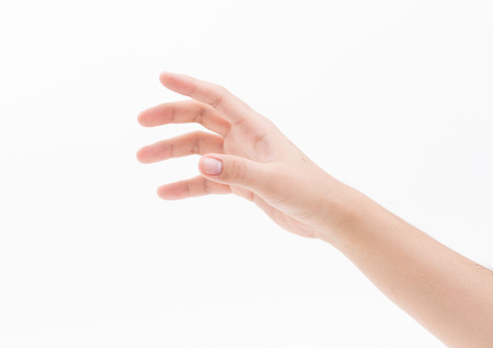 Photo pour Man hand isolated on white background, clipping path - image libre de droit